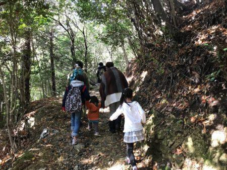 広峰神社の奥からの山道