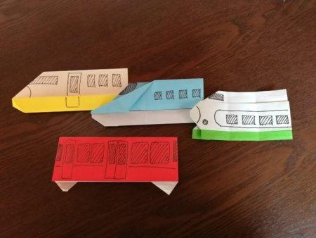 今日作った4種類。電車1種と新幹線3種。