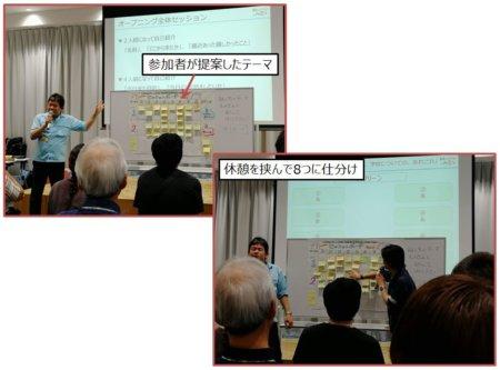 参加者が提案・貼り付けたテーマを仕分けます。