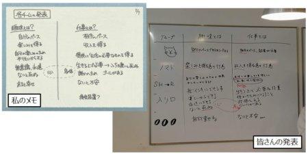 1つ目のワーク。趣味と仕事を言語化してみましょう