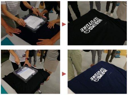 シルクスクリーンでTシャツ作り2