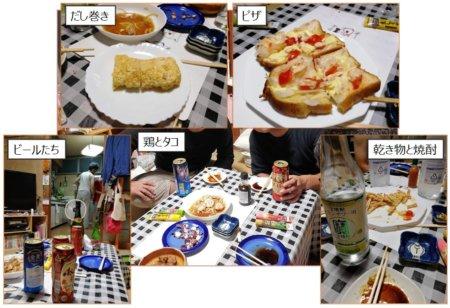 前夜祭の料理たち