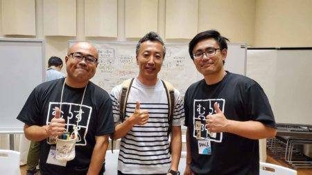 グラフィッカーの私とひめくま氏、前田さんでの記念撮影