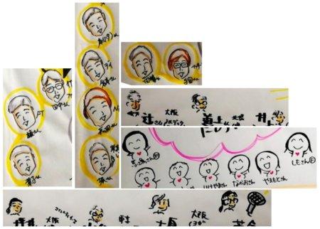 グループ討議で描かれた似顔絵たち